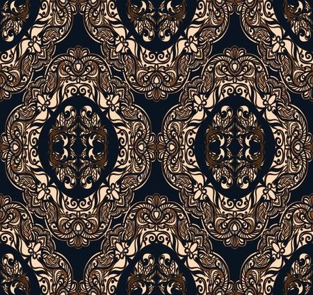 thriving: Seamless pattern. Complex pattern on a dark background.
