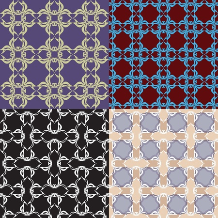 simple seamless pattern. Black - white and color versions.
