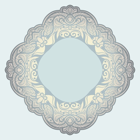 Vector rhomboid frame. Napkin. framing Vector