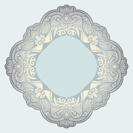 arabesque wallpaper: Vector telaio romboidale. Tovagliolo. framing Vettoriali