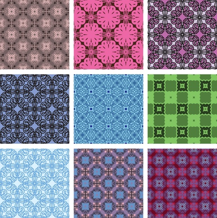embroider: Vector seamless patterns. set.