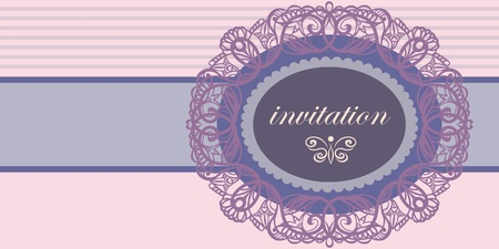 Invitation to the wedding. Vector lace. Vector