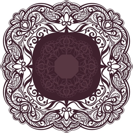 servilleta de papel: Marco decorativo. Elemento ornamental de la vendimia. vector Vectores
