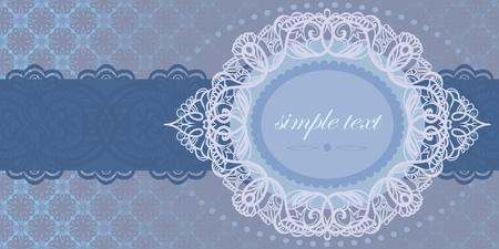 cameo: Invitation to tender-blue color. Illustration