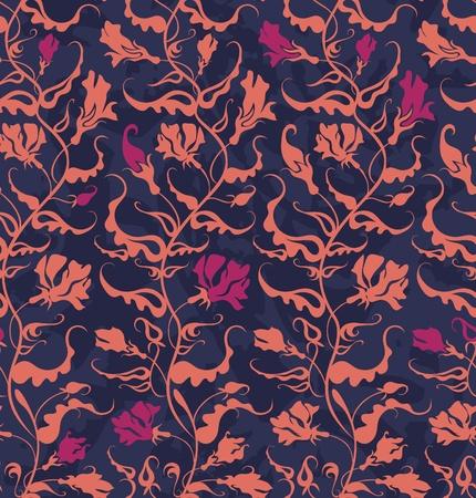 seamless pattern of climbing plant. Illustration