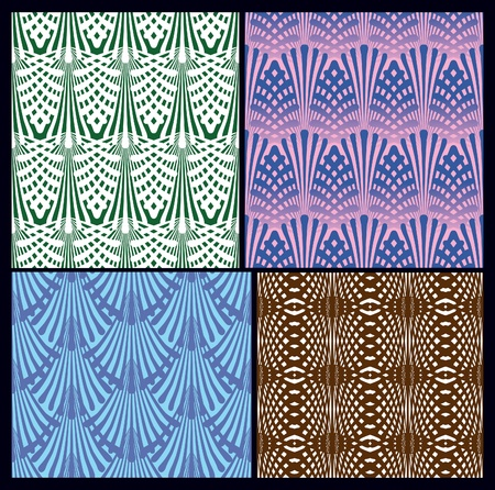 a set of seamless patterns. variants of textures. Stock Vector - 12206125