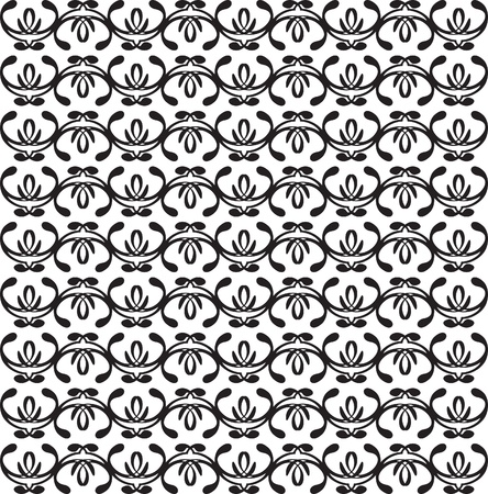 black and white seamless decorative background. Stock Vector - 12206123