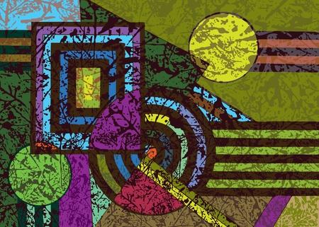 fondo geometrico: fondo abstracto geom�trico La din�mica del arte elementos del vector