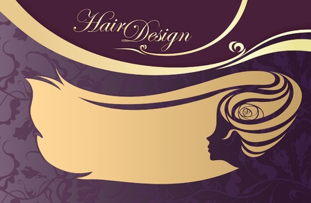 hairdressing salon business card  woman Vector