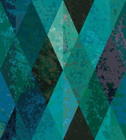 Emerald szwu tła. mozaika w kształcie rombu. Ilustracje wektorowe