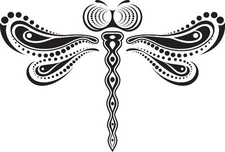 Dragonfly vector van lijnen en punten.