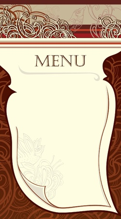 angle bar: design of the restaurant menu. vector Image. Illustration