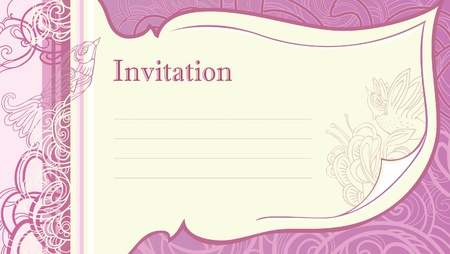 overflowing: decorating greeting cards - invitations.