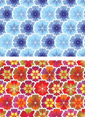 tight filled: options for seamless pattern of flowers