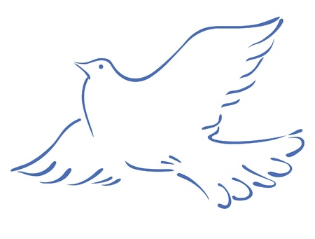 Sketch of a flying dove