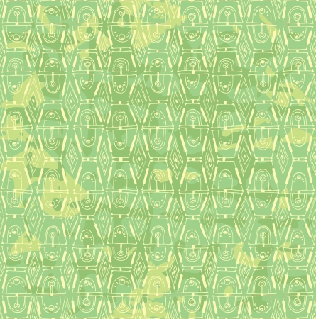 soiled: Vector seamless inlay of yellow-green color  painted pattern Illustration