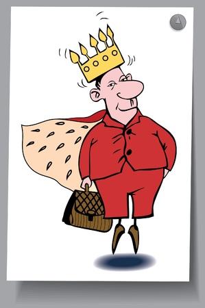 rey caricatura: De una tarjeta - un hombre con delirios de grandeza