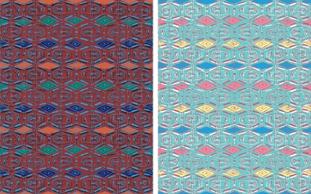 lozenge: Seamless vertical decor  Painted lines form delicate mesh  colorful diamonds