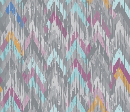 herringbone background: Seamless herringbone inlay  Texture scratched the surface  Asymmetrical multicolored zigzag