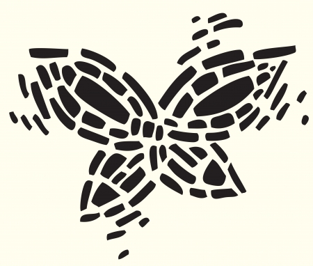 Applicative solution butterfly  Stylized sign