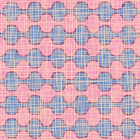 Vector seamless pattern  The wavy pink decor and a fabric texture  Vector