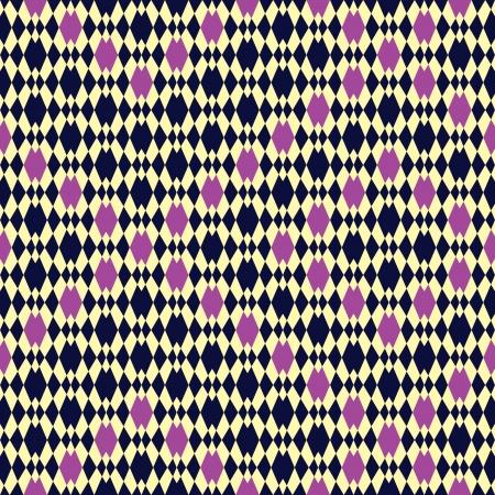 seamless pattern background: Seamless Einlage von Diamanten Effect Muster