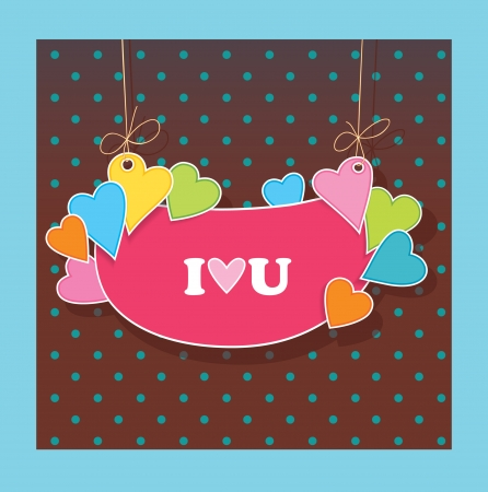 greetings card for lovers  Declaration of love  Vector