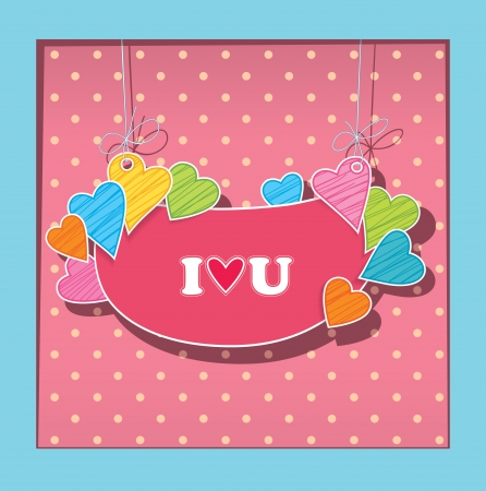 greetings card for lovers  Imitation paper applications Vector