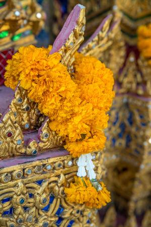 Flower Garlands for Buddha Religious Ceremony photo