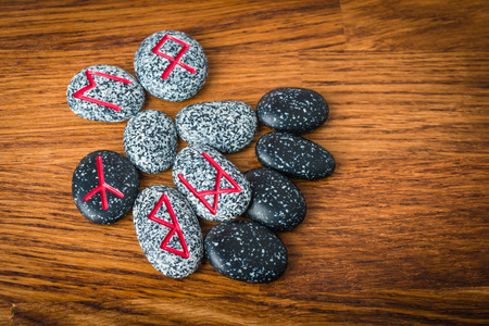 futhark: nordic runes  of stones for fortune telling