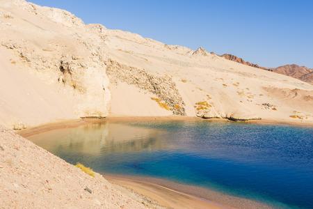 sharm el sheikh: Mountains reflection in the  sea. Ras Mohamed National Park, Sharm El Sheikh, Egypt. Stock Photo