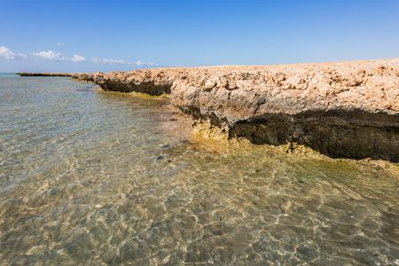 mohammed: Coastline in National park  Ras Mohammed, Sinai, Egypt.Divers paradise