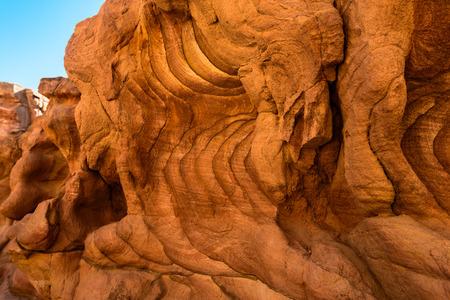 sinai desert: Fragment of coloured Canyon in the Sinai desert, Egypt Stock Photo