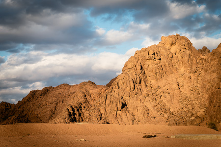 Fantastic mountains and clouds at sunset,, Egypt.