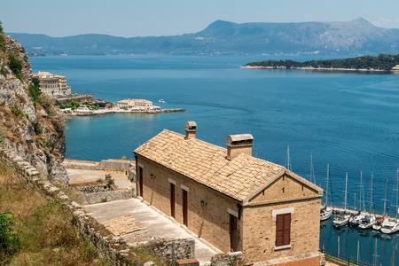 kerkyra: Historic center of Kerkyra town on the island of Corfu in Greece.
