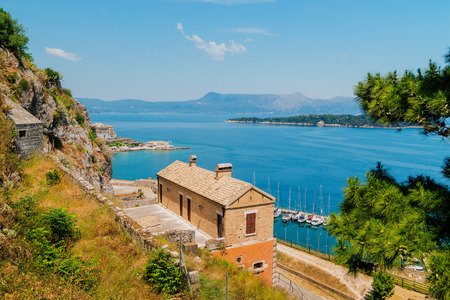 kerkyra: Historic center of Kerkyra town on the island of Corfu in Greece, Old Fortress Stock Photo