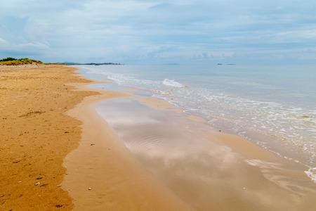 kerkyra: golden  beach of Issos, Corfu, Greece