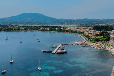 kerkyra: Panorama of the  Corfu town, Greece