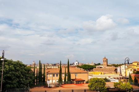 Roma: Roma panorama from Gianicolo hill, Rome, Italy Stock Photo