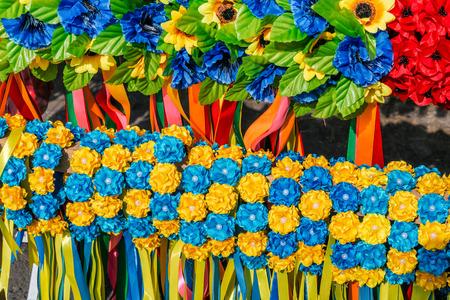 ukrainian: Ukrainian traditional wreath Stock Photo