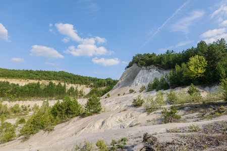 Sand formation near Lake Balaton, Hungary