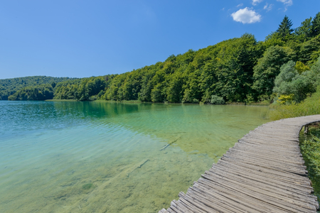 The Plitvice Lakes on  National Park, Croatia Stock Photo