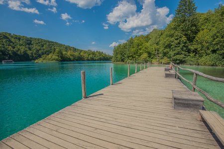 Plitvice Lakes National Park in Croatia, Europe Stock Photo