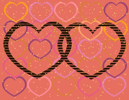 collage of Valentine's day, backgrounds, wallpapers on the theme of love