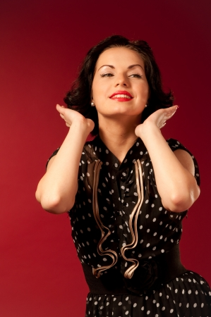 Series of  pin-up studio portraits photo