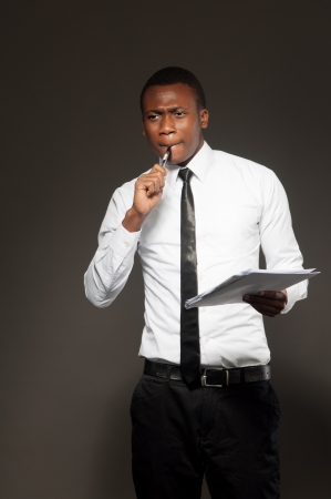 African student, Business  man  portraits, studio shot Stock Photo - 13889601