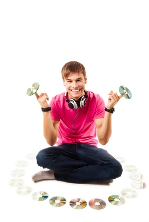disk jockey: Young disk jockey Stock Photo
