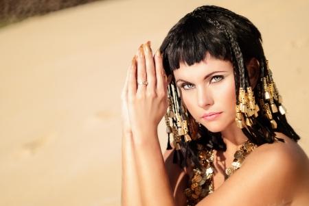 vestidos de epoca: Reina egipcia Foto de archivo