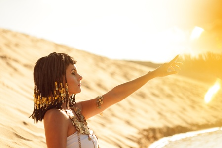 ancient egyptian civilization: Egyptian Queen Stock Photo