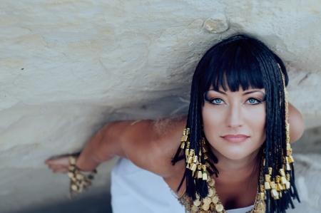 period costume: Egyptian Queen Stock Photo